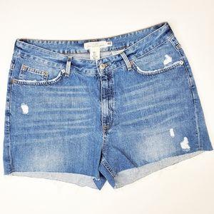 H&M L.O.G.G. Distressed Denim Jean Shorts